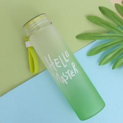 Бутылка стеклянная, зеленая. Градиент. 450 мл.