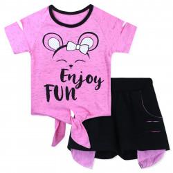 Костюм для девочки, розовый. Веселая мышка.