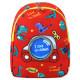 Детский рюкзак, красный. Диномобиль.
