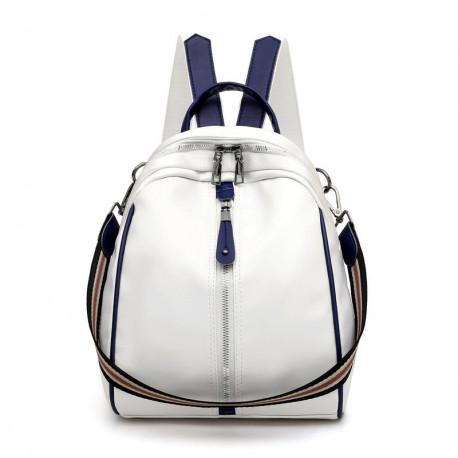 Рюкзак, городской рюкзак, кросс-боди. Нежно-белый.