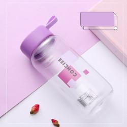 Бутылка пластиковая, фиолетовая. Сoncise. 600 мл.