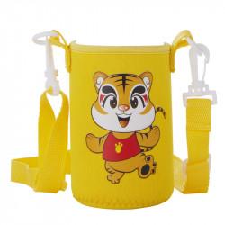 Чехол на бутылочку с ремнем, желтый. Мистер Тигри.