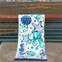 Полотенце махровое, банное. Морские животные. 85 см * 170 см.