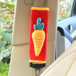 Накладка мягкая на ремень безопасности. Морква