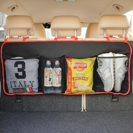 Органайзер подвесной, в багажник авто. Черный с красным