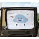 Защитная шторка для автомобиля. Облака.