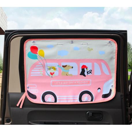 Защитная шторка для автомобиля. Автобус.
