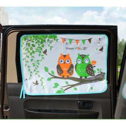 Защитная шторка для автомобиля. две совы.