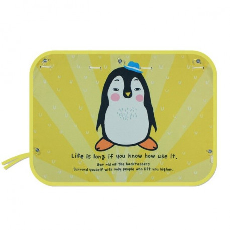 Защитная шторка для автомобиля. Пингвин