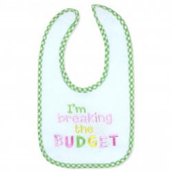 Нагрудник детский, слюнявчик, белый. I'm breaking the budget.