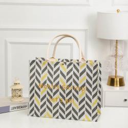 Сумка-шоппер, шоппер, сумка, экосумка, белая. Геометрические узоры.