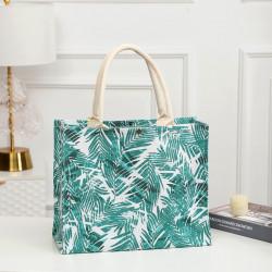 Сумка-шоппер, шоппер, сумка, экосумка, белая. Пальмовые ветки.