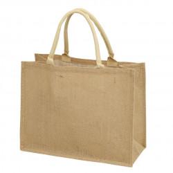 Сумка-шоппер, шоппер, сумка, экосумка, бежевая. Мешковина.