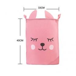 Корзина для игрушек, розовая. Зайчишка.
