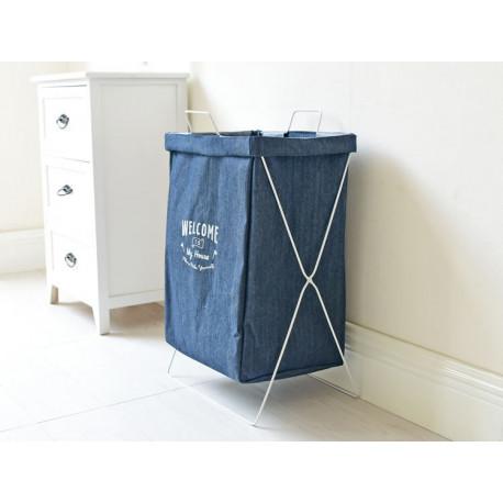 Корзина-сумка для белья, синяя. Welcome to my house.