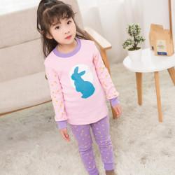Пижама для девочки, розовая. Лунный кролик.