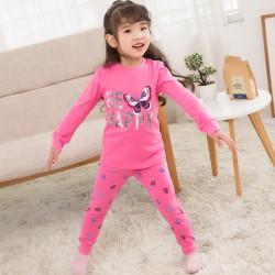 Пижама для девочки, малиновая. Счастливая бабочка.