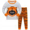 Пижама для мальчика, серая. Рычащий тигр.