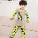Пижама для мальчика, серая. Динозавр Рекс.