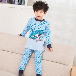 Пижама для мальчика, голубая. Маленький дино.
