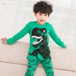 Пижама для мальчика, зеленая. Грозный Рекс.