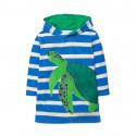 Платье для девочки, синее. Черепаха.