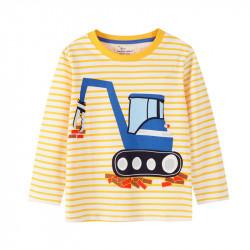 Кофта для мальчика, желтая. Экскаватор.