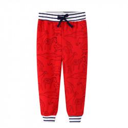 Штаны для мальчика, красные. Африканские животные.