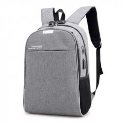 Рюкзак городской, школьный, мужской, серый. Профессионал.
