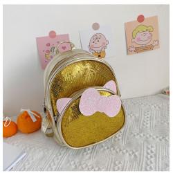 Детский рюкзак, с паетками, золотой. Китти.