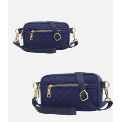Сумка через плече, сумочка, синий. Ромбы.