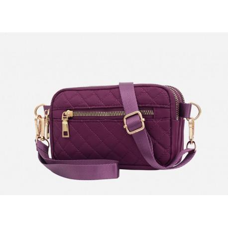Сумка через плече, сумочка, фиолетовый. Ромбы.
