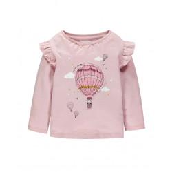 Кофта для девочки, розовая. Воздушный шар.