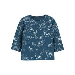 Кофта для мальчика, синяя. Семьи динозавров.