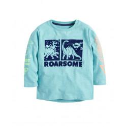 Кофта для мальчика, голубая. Рычание динозавров.