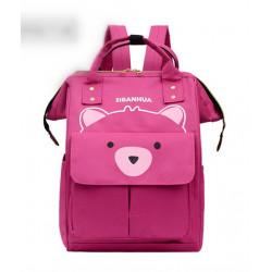 Сумка-рюкзак, мама-сумка, малиновый. Мишутка.