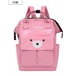Сумка-рюкзак, мама-сумка, розовый. Мишутка.