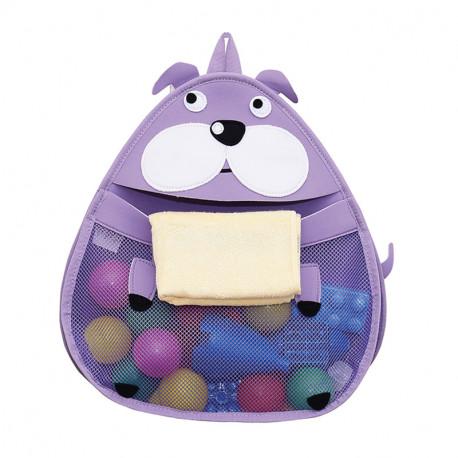 Подвесной органайзер в ванную для игрушек. Бегемот