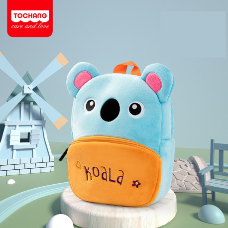 Велюровый рюкзак, голубой. Милая коала.