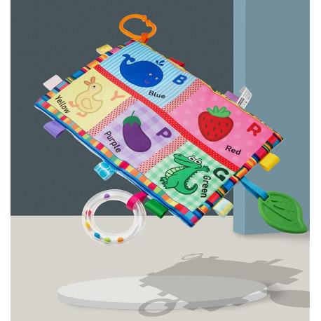 Мягкая развивающая игрушка - коврик. Животные и фрукты.