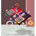 Мягкая развивающая игрушка - коврик. Животные и геометрические фигуры.