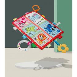 Мягкая развивающая игрушка - коврик. Животные.