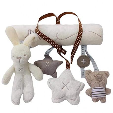 Мягкая подвеска Мишка и кролик со звездочками