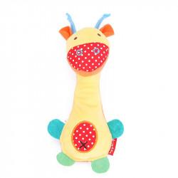 Мягкая погремушка Забавный жираф