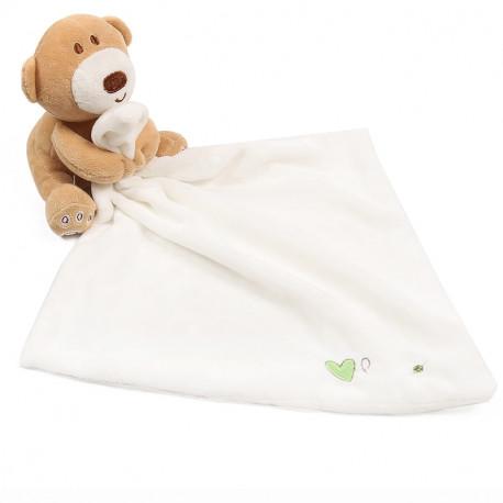 Мягкая игрушка Мишка с белым полотенцем 24*24 см.