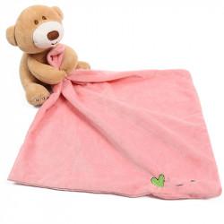 Мягкая игрушка Мишка с пудровым полотенцем 24*24 см.