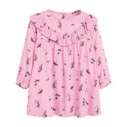 Платье для девочки, розовое. Нежные цветы.