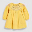 Платье для девочки, желтое. Вышиваночка.