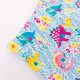 Леггинсы для девочки, голубые. Разноцветные дино.