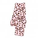Леггинсы для девочки, розовые. Леопард.
